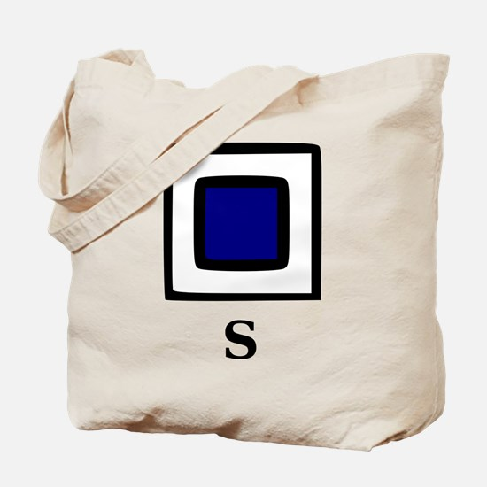Nautical Letter S Tote Bag