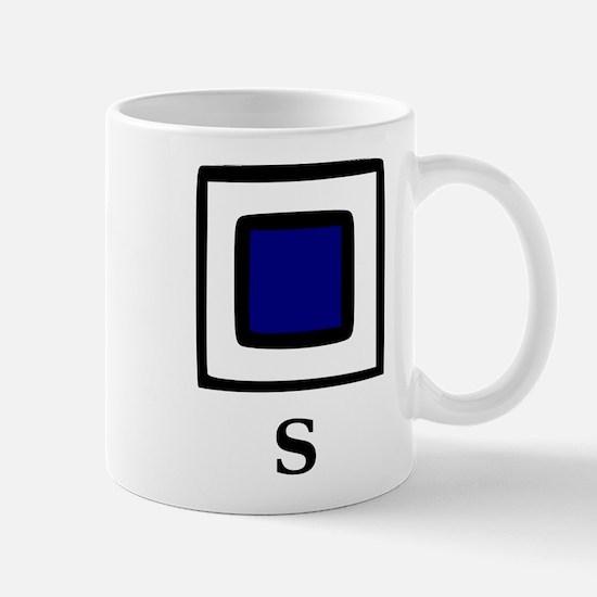 Nautical Letter S Mug
