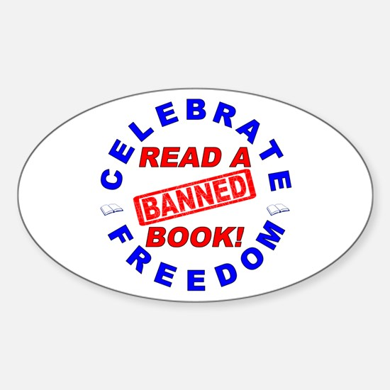 Read a Banned Book! Sticker (Oval)