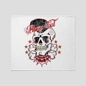 Vintage Skull Throw Blanket