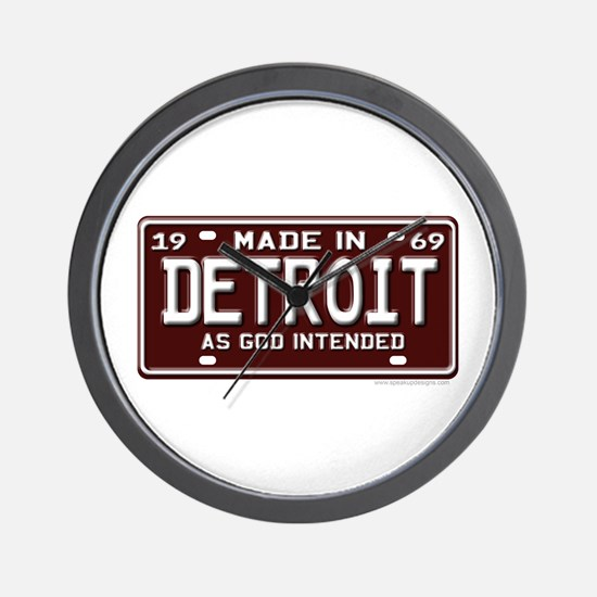 made in Detroit 1969 Wall Clock
