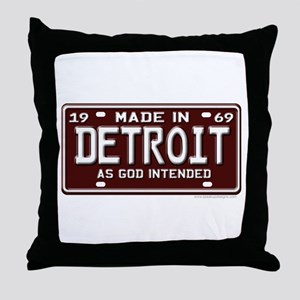 made in Detroit 1969 Throw Pillow