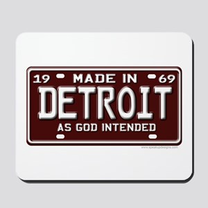 made in Detroit 1969 Mousepad