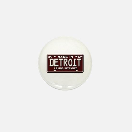 made in Detroit 1969 Mini Button
