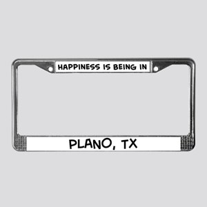 Happiness is Plano License Plate Frame