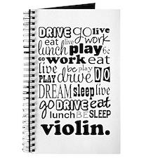 Violin Music Gift Journal