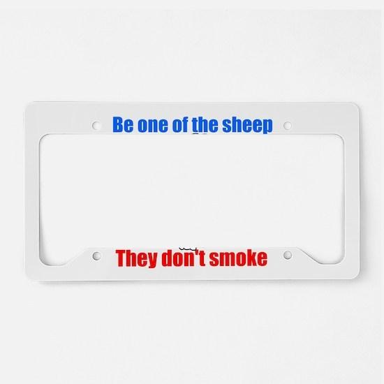Sheep don't smoke License Plate Holder