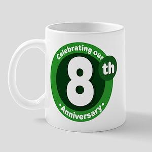 8th Anniversary Green Gift Mug