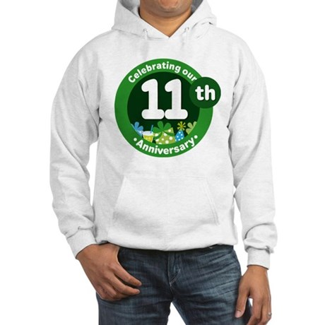 11th Anniversary Green Gift Hooded Sweatshirt