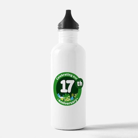 17th Anniversary Celebration Gift Water Bottle