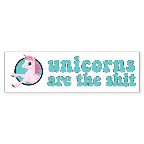 Unicorns are the shit Sticker (Bumper)