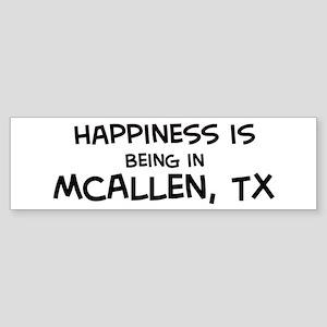 Happiness is McAllen Bumper Sticker
