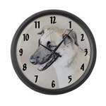 Chinook (Dropped Ears) Large Wall Clock