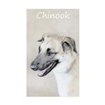 Chinook (Dropped Ears) Sticker (Rectangle 10 pk)
