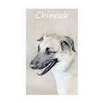 Chinook (Dropped Ears) Sticker (Rectangle 50 pk)