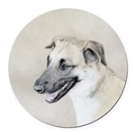 Chinook (Dropped Ears) Round Car Magnet