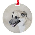 Chinook (Dropped Ears) Round Ornament