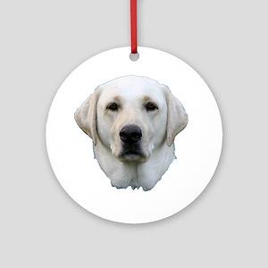 White lab 3 Ornament (Round)