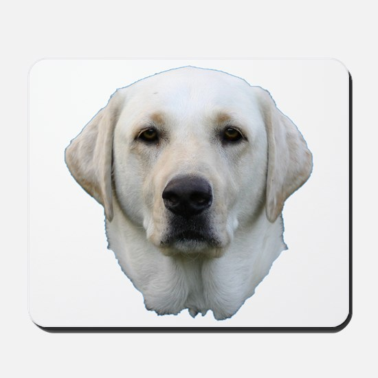 White lab 3 Mousepad