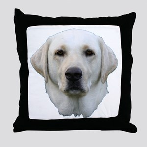 White lab 3 Throw Pillow