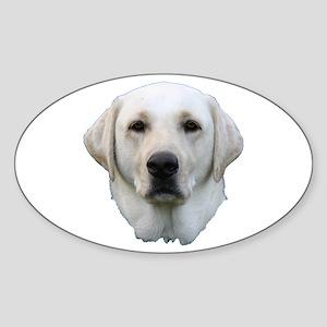 White lab 3 Sticker (Oval)