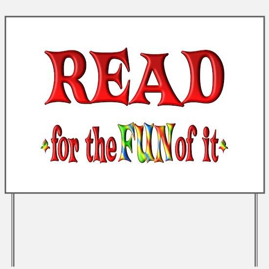 Reading Fun Yard Sign