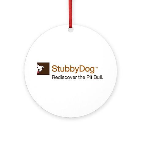 StubbyDog Logo Ornament (Round)