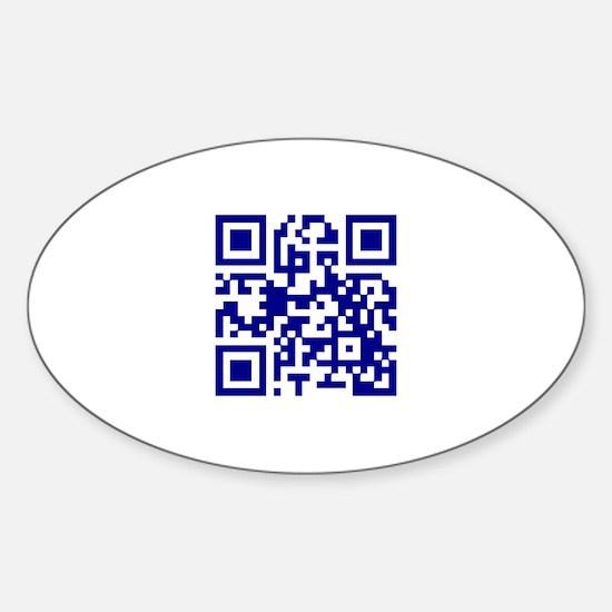My own QR Sticker (Oval)