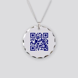My own QR Necklace Circle Charm
