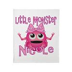 Little Monster Nicole Throw Blanket