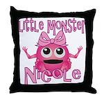 Little Monster Nicole Throw Pillow