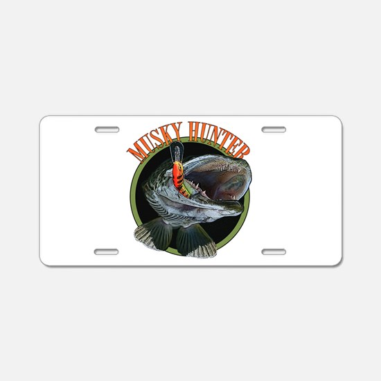 Musky hunter 8 Aluminum License Plate