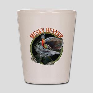 Musky hunter 8 Shot Glass