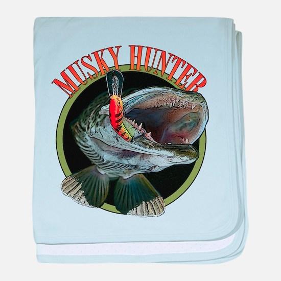Musky hunter 8 baby blanket
