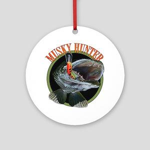 Musky hunter 8 Ornament (Round)
