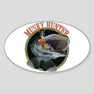 Musky hunter 8 Sticker (Oval)