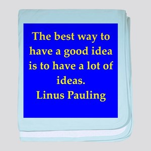 Linus Pauling quotes baby blanket