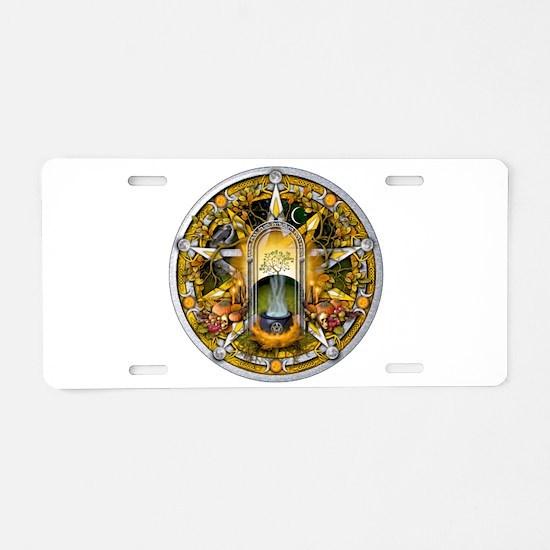 Samhain Pentacle Aluminum License Plate