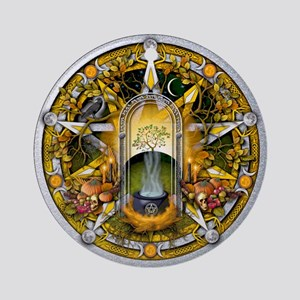 Samhain Pentacle Ornament (Round)