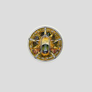 Samhain Pentacle Mini Button