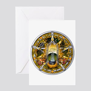 Samhain Pentacle Greeting Card