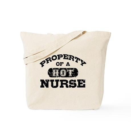 Property of a Hot Nurse Tote Bag