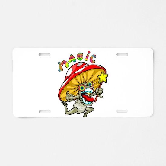 Cute Mushroom Aluminum License Plate