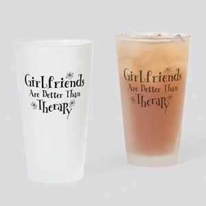 Girlfriend Therapy Drinking Glass