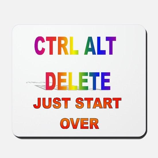 CTRL ALT DELETE JUST START OV Mousepad