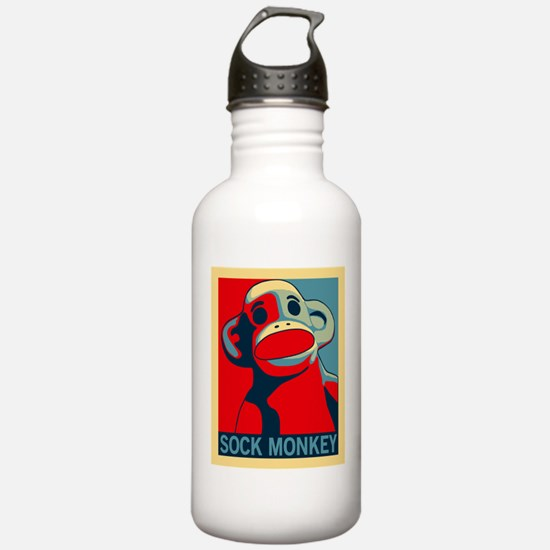 Sock Monkey Hope Water Bottle