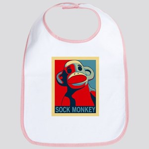 Sock Monkey Hope Bib