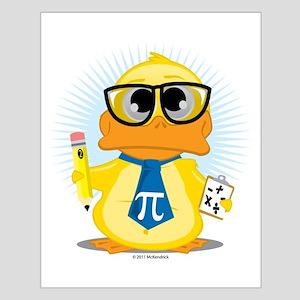 Math Teacher Duck Small Poster