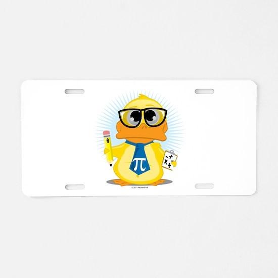 Math Teacher Duck Aluminum License Plate
