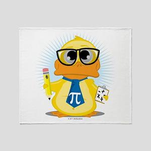 Math Teacher Duck Throw Blanket